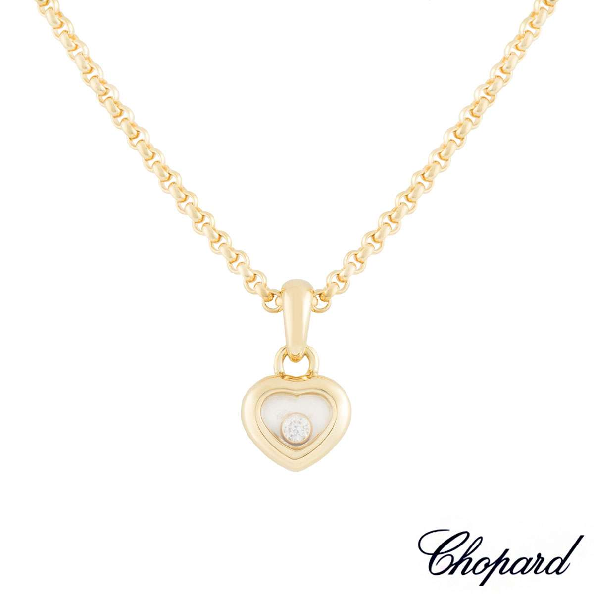Chopard yellow gold happy diamonds pendant 794854 rich diamonds chopard yellow gold happy diamonds pendant 794854 aloadofball